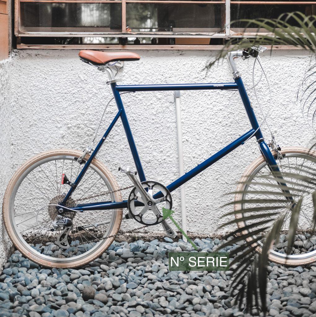 Ubicación del número de serie en las bicicletas.