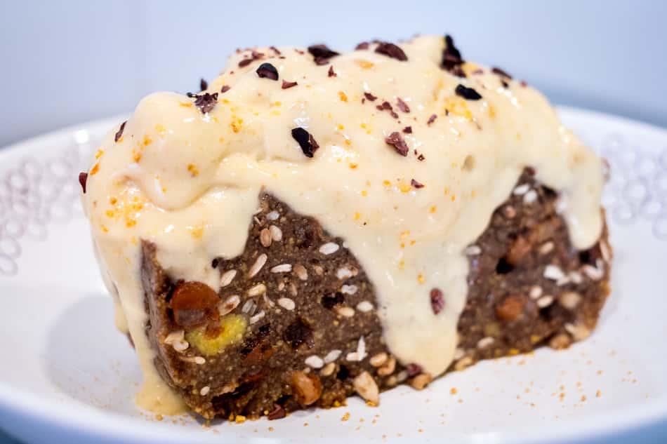 Desayuno con polenta. Variante con helado de plátano