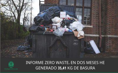 Informe Zero Waste. En dos meses he generado 35,41 Kg de basura