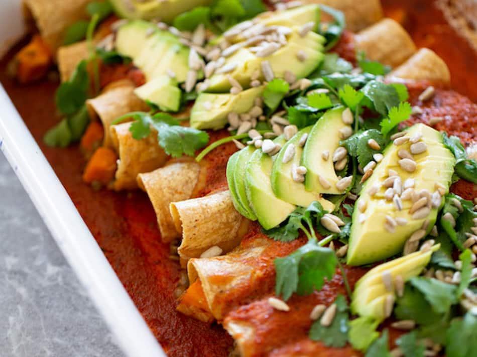 Receta de enchiladas veganas