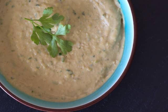 Receta vegetal de Hummus.